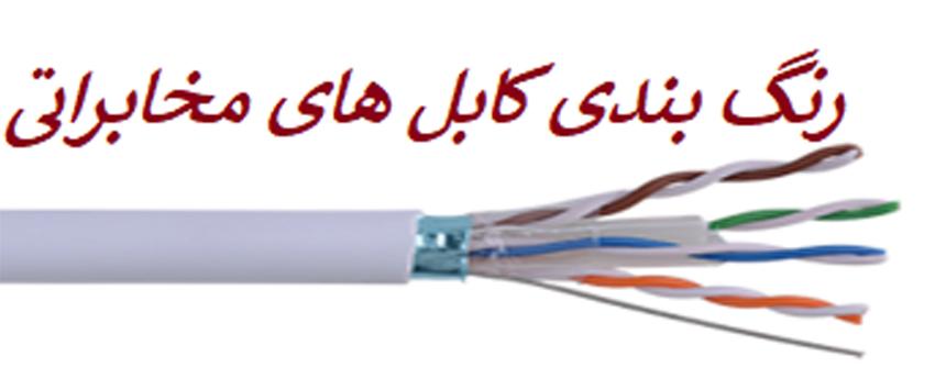 رنگ بندی کابل مخابراتی